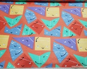 Flannel Fabric - Origami Friends - By the Yard - 100% Cotton Flannel