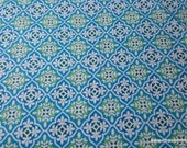 Flannel Fabric - Blue Green Geo - By the yard - 100% Cotton Flannel