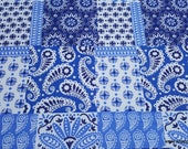 Flannel Fabric - Skylar Paisley Patch - By the Yard - 100% Cotton Flannel