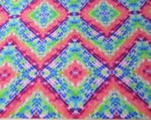 Flannel Fabric - Bright Geometric Tiedye - By the yard - 100% Cotton Flannel
