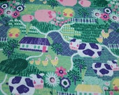 Flannel Fabric - Crops and Farm Animals - By the yard - 100% Cotton Flannel