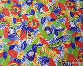 Flannel Fabric - Multi Jungle Animals - By the yard - 100% Cotton Flannel