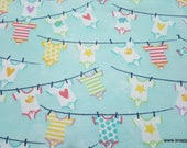 Flannel Fabric - Baby Clothes Line - By the yard - 100% Cotton Flannel
