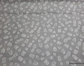 Licensed Flannel Fabric - Boy Scouts Modern Scouting Gray - By the yard - 100% Cotton Flannel