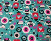 Flannel Fabric - Little Tea Party - 1 yard - 100% Cotton Flannel