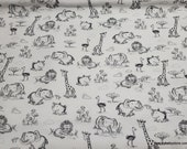 Flannel Fabric - On the Safari - By the yard - 100% Cotton Flannel