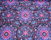 Flannel Fabric - Warm Sunset Medallion - By the yard - 100% Cotton Flannel