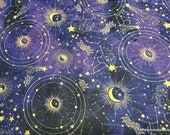 Flannel Fabric - Zodiac Constellations - By the yard - 100% Cotton Flannel