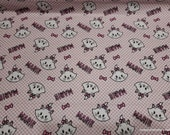 Character Flannel Fabric - Aristocats Marie Checker - By the yard - 100% Cotton Flannel