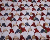 Christmas Premium Flannel Fabric - Gnomies Packed Gnomes and Snowmen Premium - By the yard - 100% Premium Cotton Flannel