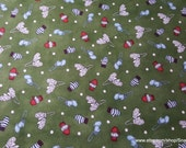 Christmas Flannel Fabric - Frolic in the Snow Premium - By the yard - 100% Premium Cotton Flannel