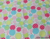 Flannel Fabric - Dotty Circles  - By the yard - 100% Cotton Flannel