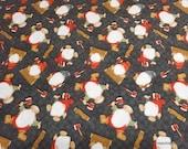 Christmas Premium Flannel Fabric - Gnomies Tossed on Black Premium - By the yard - 100% Premium Cotton Flannel