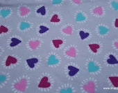 Flannel Fabric - Heart Bursts - By the yard - 100% Cotton Flannel