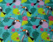 Flannel Fabric - Toucans Allover - By the yard - 100% Cotton Flannel