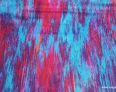 Flannel Fabric - Bright Linear Tie Dye Luxe - By the yard - 70% Rayon, 30 Cotton