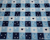 Flannel Fabric - Love to Moon Patch - By the yard - 100% Cotton Flannel