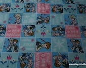 Character Flannel Fabric - Frozen Heart Full of Sunshine Patch - By the yard - 100% Cotton Flannel