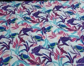 Flannel Fabric - Bright Sea Turtles - By the Yard - 100% Cotton Flannel