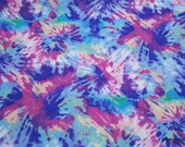 Quilters Flannel Fabric - Tie Dye Classic - By the yard - 100% Cotton Quilters Flannel