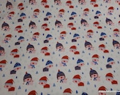 Flannel Fabric - Cozy Little Piggies on White - By the yard - 100% Cotton Flannel