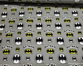 Character Flannel Fabric - Batman Assorted Logo - By the yard - 100% Cotton Flannel