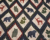 Flannel Fabric - Autumn Aztec Animals - By the yard - 100% Cotton Flannel