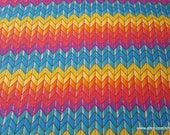 Flannel Fabric - Rainbow Chevron - By the yard - 100% Cotton Flannel
