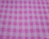 Flannel Fabric - Pink Funfetti Plaid - By the Yard - 100% Cotton Flannel