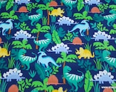 Flannel Fabric - Navy Dino Friends Premium Flannel - By the yard - 100% Cotton Flannel