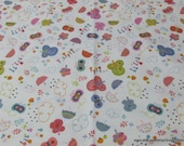 Flannel Fabric - Raining Butterflies  - By the yard - 100% Cotton Flannel
