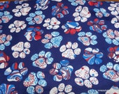 Flannel Fabric - USA Filled Paws - By the yard - 100% Cotton Flannel
