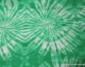 Flannel Fabric - Kelly Green Circles TieDye - By the yard - 100% Cotton Flannel
