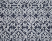 Flannel Fabric - Damask Grey - By the yard - 100% Cotton Flannel