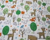 Flannel Fabric - Boy Woodland - By the Yard - 100% Cotton Flannel