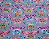 Flannel Fabric - Butterflies with Spots - By the Yard - 100% Cotton Flannel