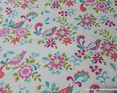 Flannel Fabric - Madison Birds - By the yard - 100% Cotton Flannel