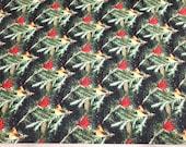 Christmas Premium Flannel Fabric - Snow Bird Cardinals on Branches Premium - By the yard - 100% Premium Cotton Flannel