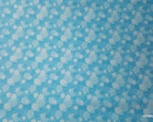 Flannel Fabric - Aqua Bubbles - By the Yard - 100% Cotton Flannel