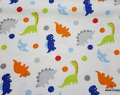 Flannel Fabric - Rex Tossed - By the Yard - 100% Cotton Flannel