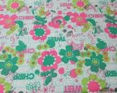 Flannel Fabric - Birdie Tweet Chirp - By the yard - 100% Cotton Flannel