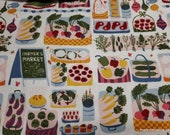 Flannel Fabric - Farmers Market - By the yard - 100% Cotton Flannel