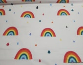 Flannel Fabric - Rainbow Snail Rainbows - By the yard - 100% Cotton Flannel