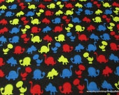 Flannel Fabric - Dinosaur Silhouette - By the yard - 100% Cotton Flannel