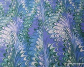 Flannel Fabric - Purple Green Blue Paint Swirl - By the yard - 100% Cotton Flannel