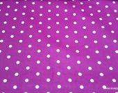 Flannel Fabric - Dots Magenta Haze  - By the Yard - 100% Cotton Flannel
