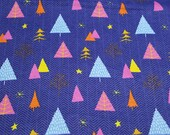 Christmas Flannel Fabric - In the Forest on Blue -By the Yard - 100% Cotton Flannel