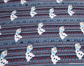 Character Flannel Fabric - Disney Frozen Olafs Alpine Adventure - By the yard - 100% Cotton Flannel