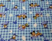 Flannel Fabric - Disney Mickey Mouse Outdoor Fun - By the yard - 100% Cotton Flannel