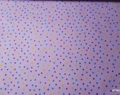Flannel Fabric - Lavender Small Dots - By the yard - 100% Cotton Flannel